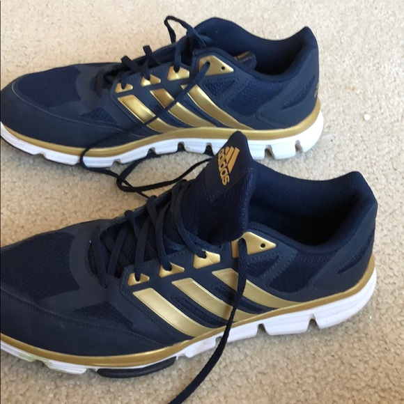 deficit Case Dignified  blue and gold tennis shoes > Up to 62% OFF > In stock